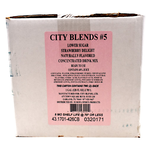 City Blends Concentrated Drink Mix Strawberry Delight - 2...