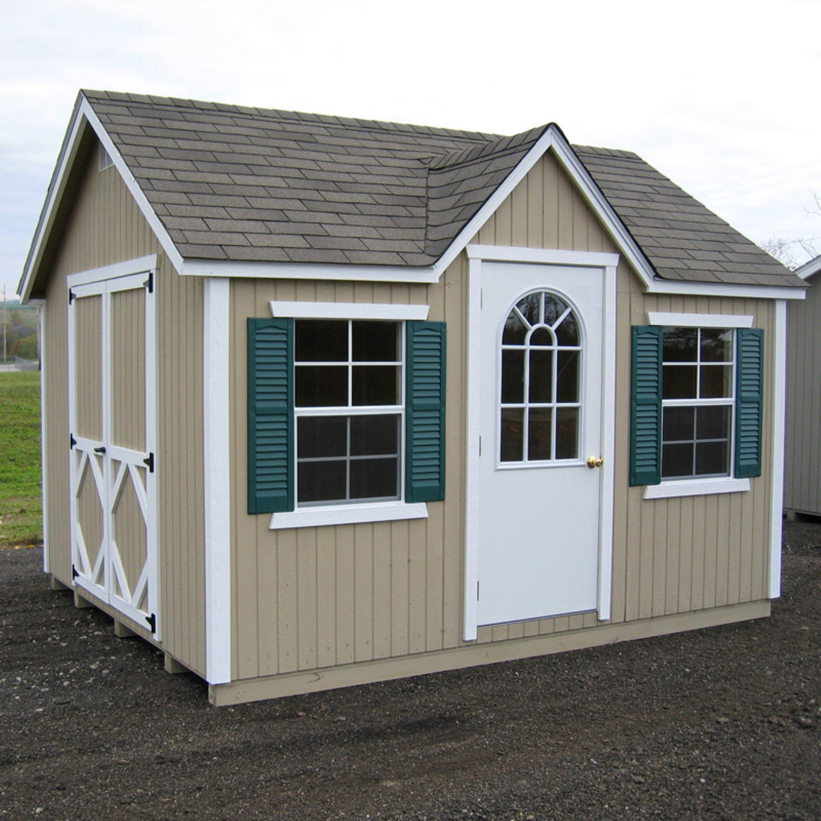Little Cottage Classic Wood Cottage Panelized Storage Shed with Optional Floor Kit