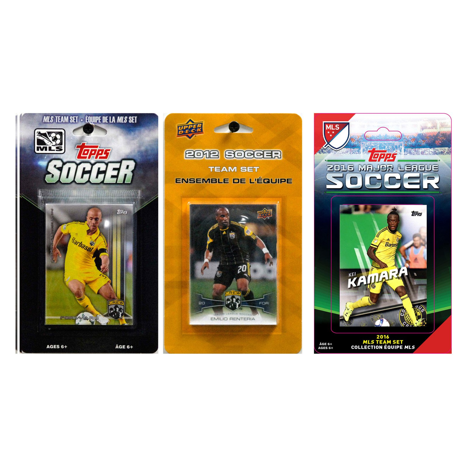 C&I Collectables MLS Columbus Crew 3 Different Licensed Trading Card Team Sets