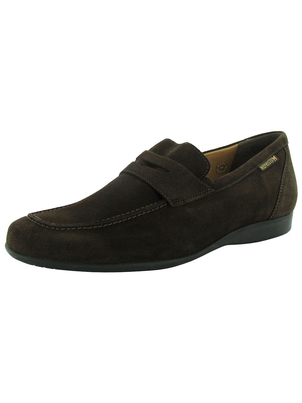 Mephisto Mens 'Kazak' Loafer Shoe, Dark Brown, US 9 by Mephisto