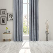 Wisewater Velvet Curtains Grommet Blackout Curtains Luxury Window Treatment 2 Panels Light Blocking 100% Curtain Thermal Drapes, Gray, 52x63 inch