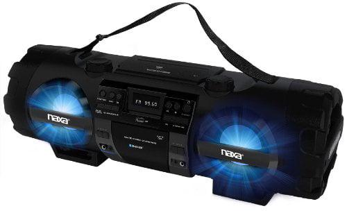 Naxa Mp3 cd Bass Reflex Boombox & Pa System With Bluetooth 1 X Disc 60 W Integrated Black Cd-da, Mp3 Battery... by Naxa