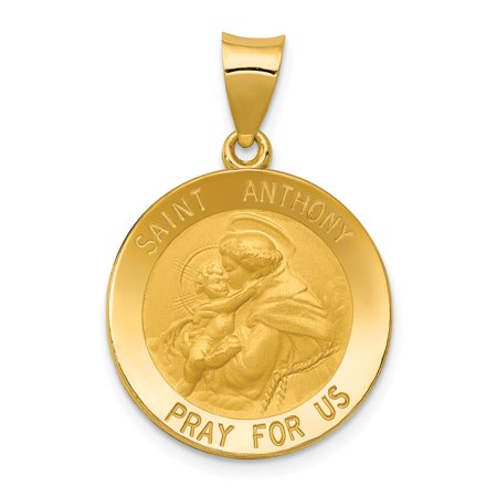 14k yellow gold saint anthony medal pendant 27mm x 19mm walmart 14k yellow gold saint anthony medal pendant 27mm x 19mm aloadofball Images