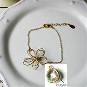 Rebecca FBSGC Flower Wire Bracelet - Gold-Clear