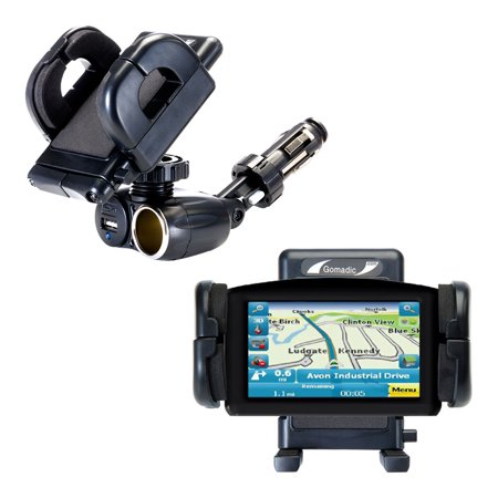 Dual USB / 12V Charger Car Cigarette Lighter Mount and Holder for the Maylong FD-420 GPS For Dummies