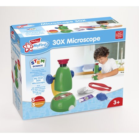 Edu Toys My First 30X Microscope Sciene Learning Set - Kids Microscope
