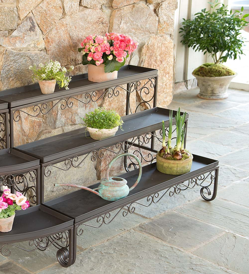 Straight Three-Level Plant Stand by Plow & Hearth®