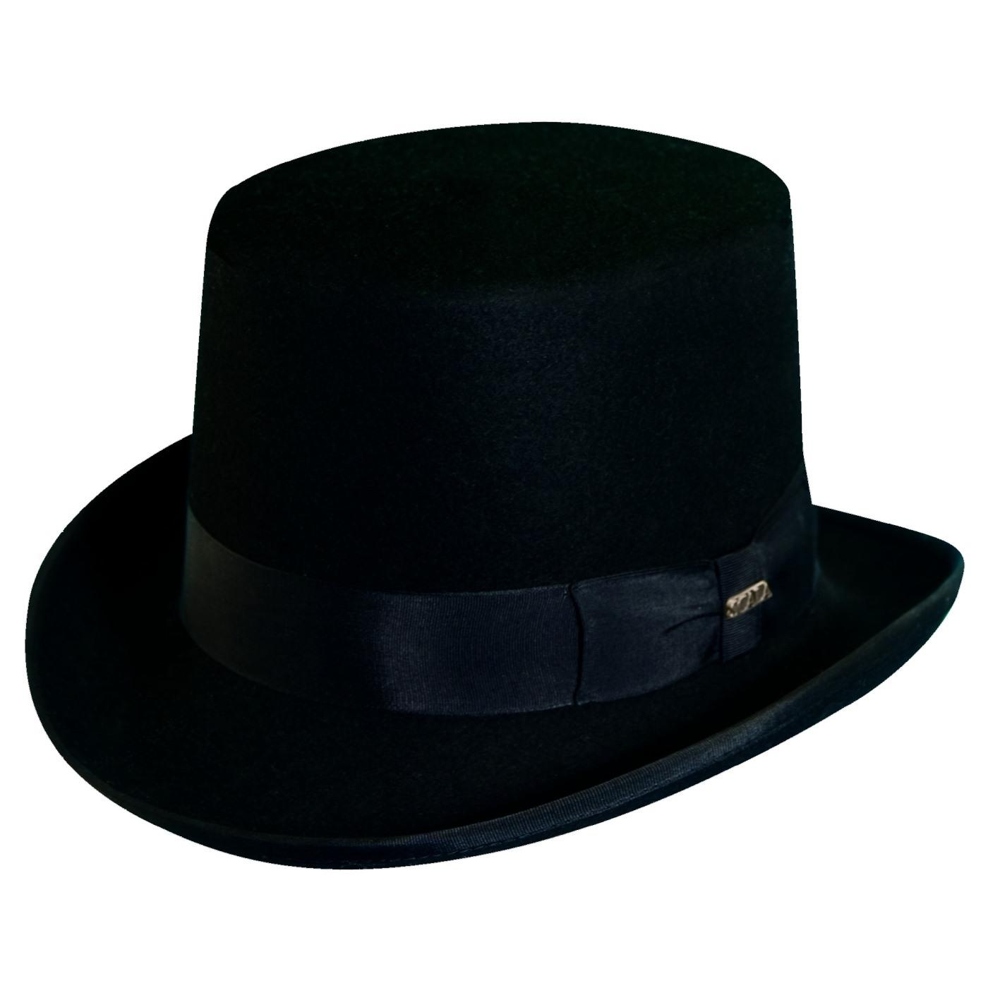 Dorfman Pacific Men s Wool Felt Traditional Top Hat 8a6b1044904