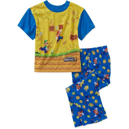 97a76ff64 Super Mario Bros. - Super Mario Brothers Boys' 2 Piece Pajama Set ...