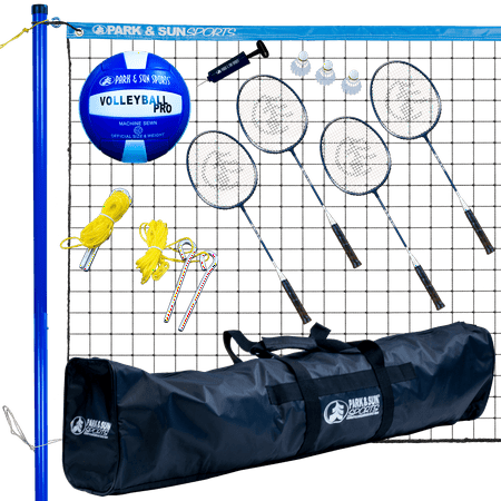 Volley Portable Combination Volleyball/Badminton Set - Park and Sun Sports