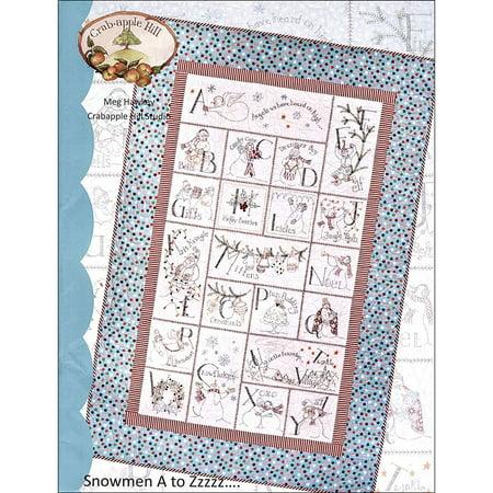 Snowmen A to Zzzzz.... Embroidery Pattern-Meg Hawkey--Crabapple Hill Studio - Crabapple Hill Halloween Patterns