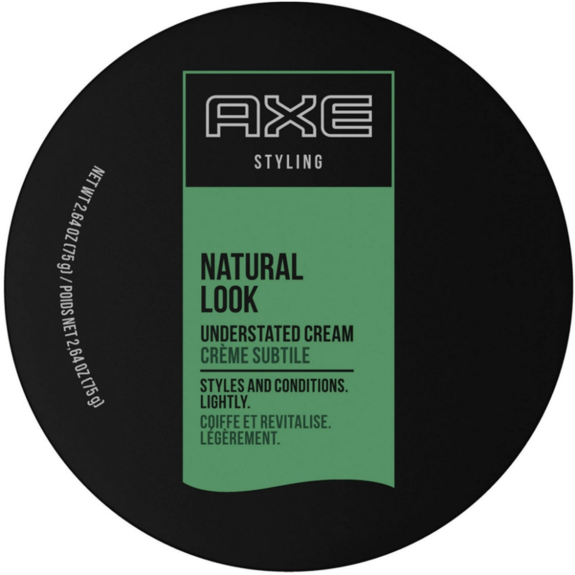 Axe Understated Natural Look Hair Styling Cream 2.64 oz