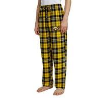 Men's Gold/Black Iowa Hawkeyes Ballot Flannel Lounge Pants