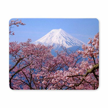 POP Mt Fuji and Cherry Blossom in Japan Spring Season Printed Mousepad Non Slip Rubber Gaming Mouse Pad 9x10 inch - image 2 of 2
