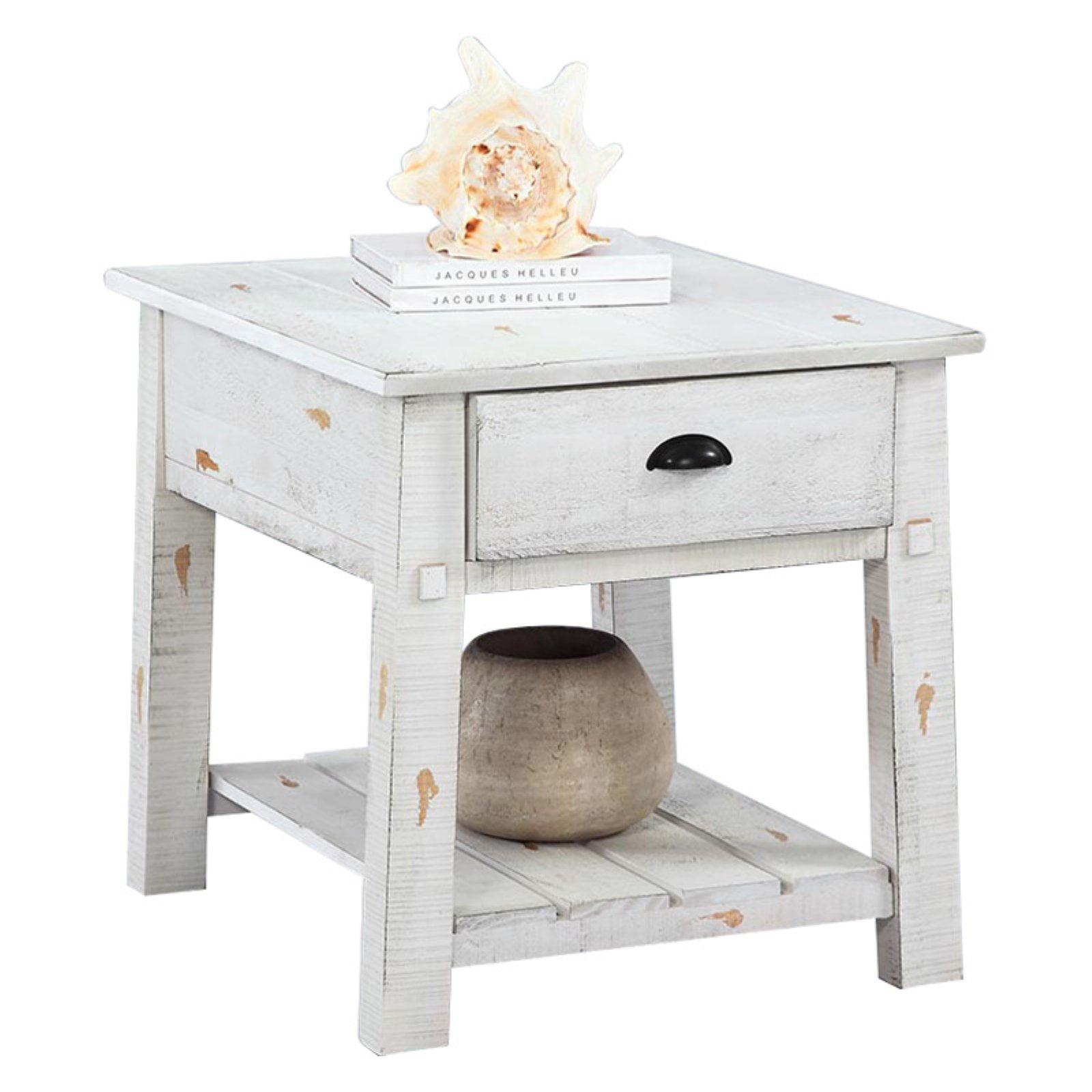 Progressive Willow Rectangular End Table - White