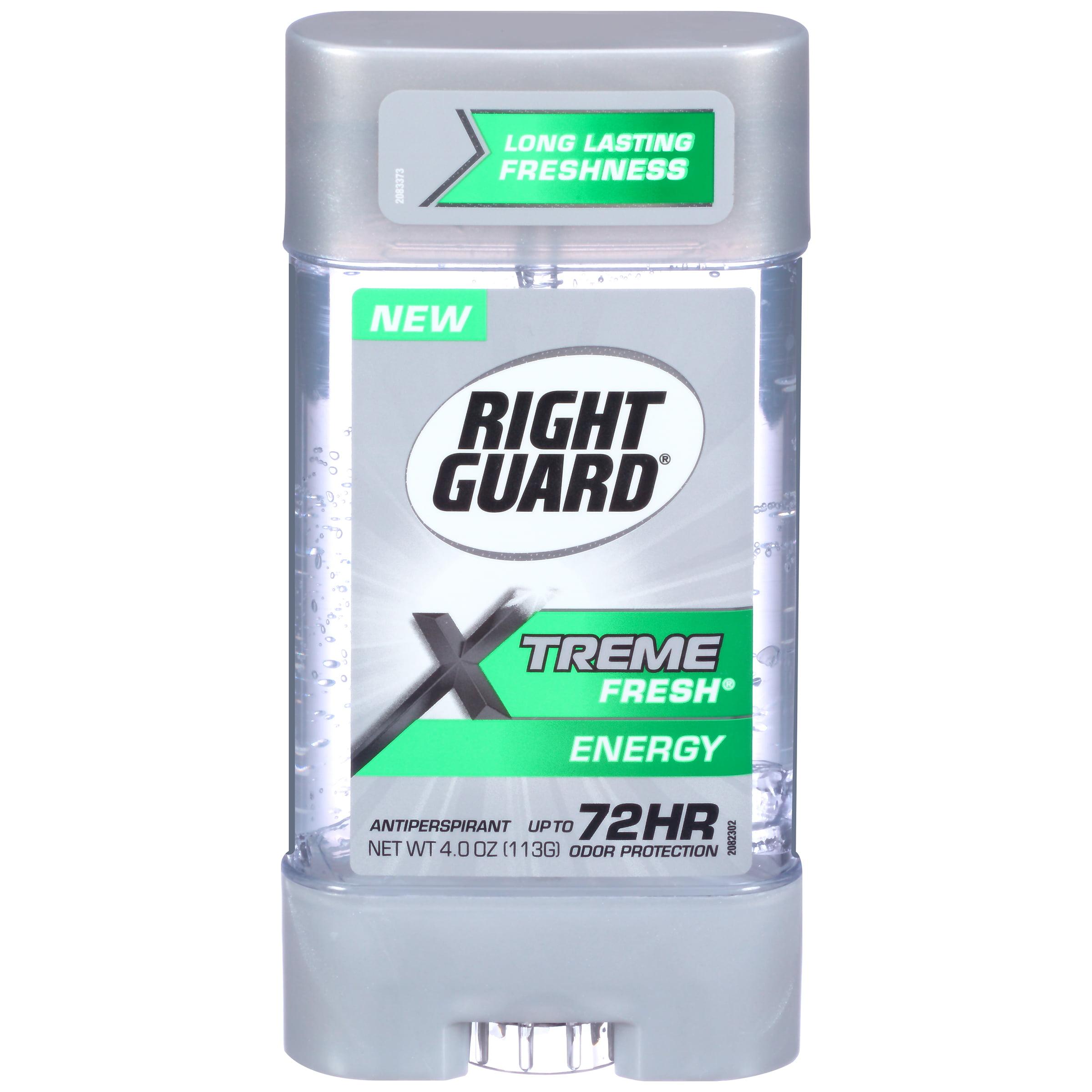 Right Guard Xtreme Fresh Antiperspirant Deodorant Gel, Energy, 4 Ounce