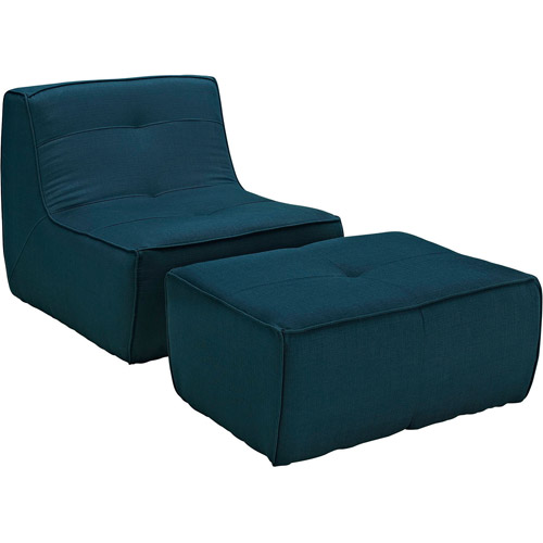 Modway Align 2-Piece Upholstered Armchair and Ottoman Set, Multiple Colors by Modway
