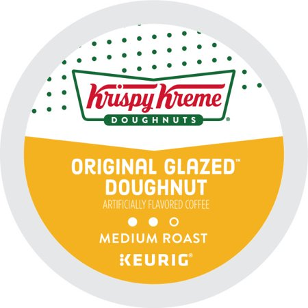 Krispy Kreme, Original Glazed Doughnut, Keurig K-Cup Coffee Pods, Medium Roast, 18