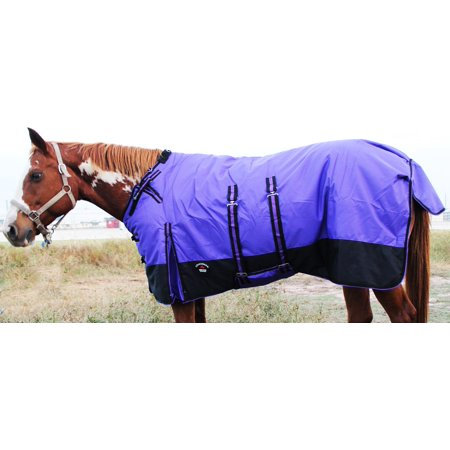 "84"" 1200D Turnout Waterproof Horse WINTER BLANKET HEAVY Belly Band 534B"