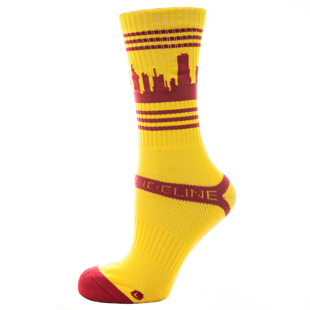 One Pair Cleveland Cavaliers Maroon Gold Double Wide For Bare Feet Wristbands