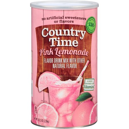 Country Time Pink Lemonade Drink Mix 82 5 Oz  Canister