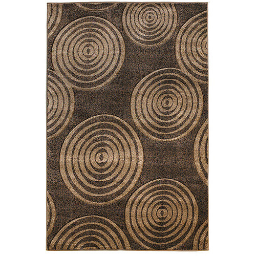 Milan Power Loomed Rug, Brown/Beige