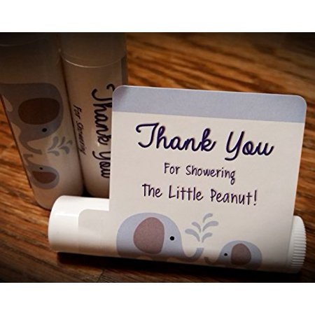 12 Elephant Baby Shower Lip Balms - Boy Baby Shower Favors - Elephant Shower Favors - Blue Elephant Favors (Boys Baby Shower Themes)