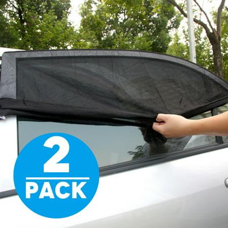 TSV 2-pack Car SUV Premium Rear Side Window Sun Visor Shade Mesh Cover  Shield Sunshade UV Protector f0de3a647b3