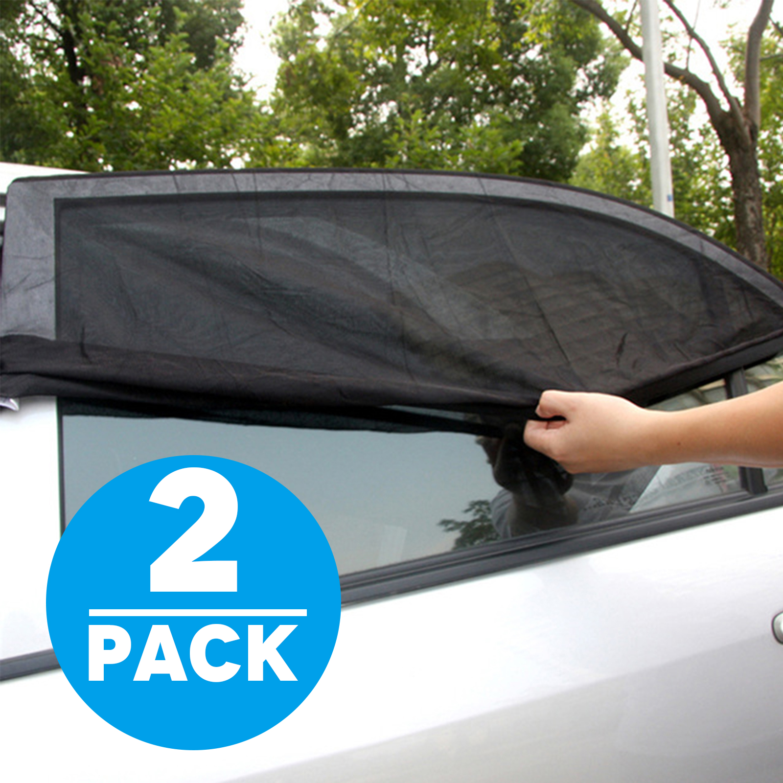 TSV 2-pack Car SUV Premium Rear Side Window Sun Visor Shade Mesh Cover Shield Sunshade UV Protector, Universal Fit Car Trucks and SUV etc.