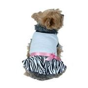 Pet Dog Puppy Cute Zebra Dress Skirt Clothes Apparel M (Gift for Pet)