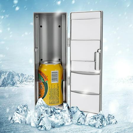Compact Mini USB Fridge Freezer Cans Drink Beer Cooler Warmer Travel Car Office Use, Mini Fridge Freezer, Mini Fridge (Mini Fridge Usb)