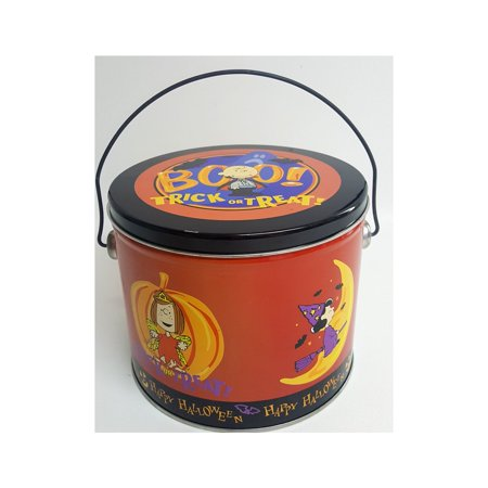 Peanuts Halloween Trick Or Treat Round Tin - Peanuts Halloween Settings