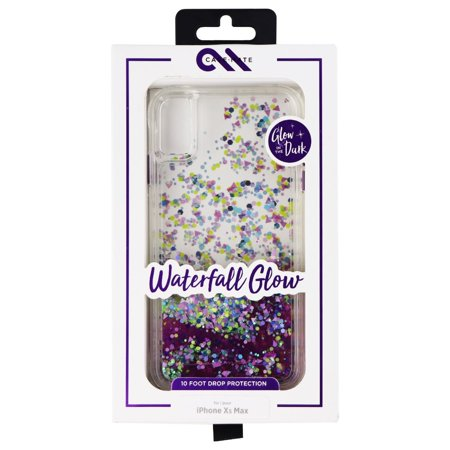 more photos 590c7 fcfc0 Case-Mate CM037826 Glow Waterfall Case for iPhone XS Max - Purple Glow