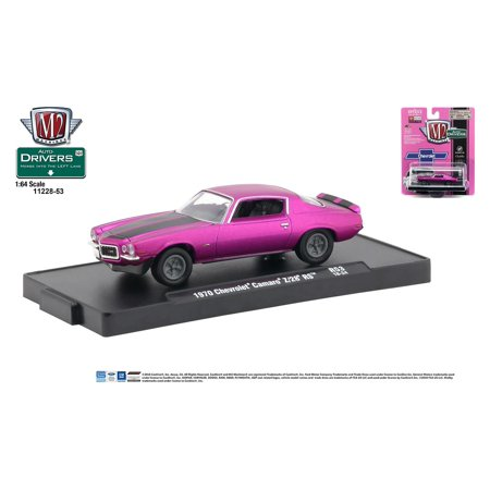 M2 Machines Auto-Drivers 1:64 R53 1970 Chevrolet Camaro Z28 RS Satin Pink