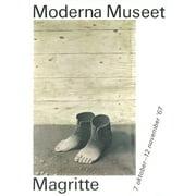 "RENE MAGRITTE Moderna Museet 39.5"" x 27.5"" Lithograph 1967 Surrealism Gray"