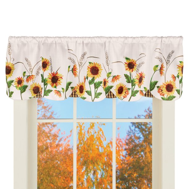 Window Valance Curtain With Scalloped