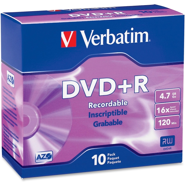 Verbatim 95097 16x DVD+R Media