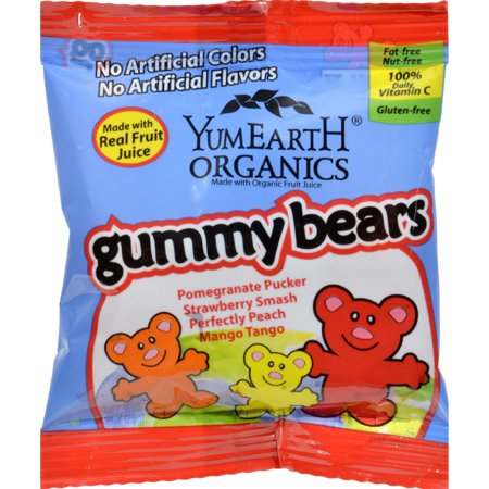 *** *** Discontinued YummyEarth ours gommeux, .9 Ounce (paquet de 12)