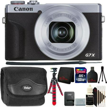 Canon PowerShot G7 X Mark III Full HD 120p Video Digital Camera - Silver Top Accessory Bundle