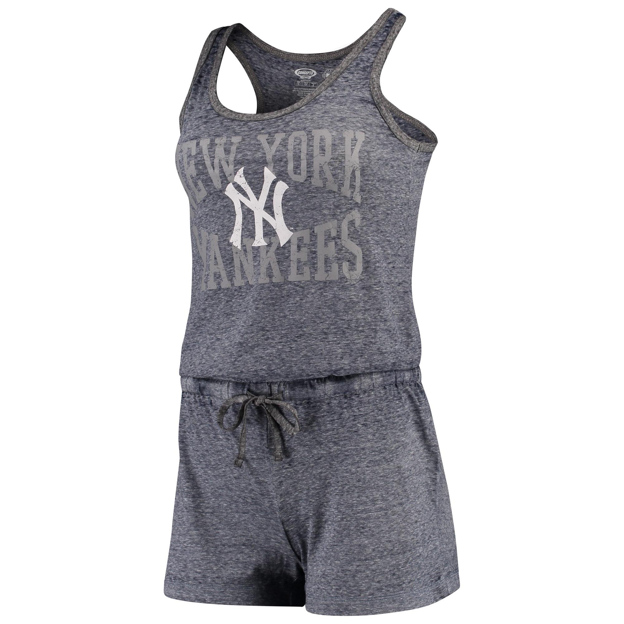 New York Yankees Concepts Sport Women's Squad Sleep Romper - Navy
