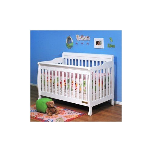 Athena Baby Furniture 4689 Alice 3-in-1 Crib with Toddler Rail