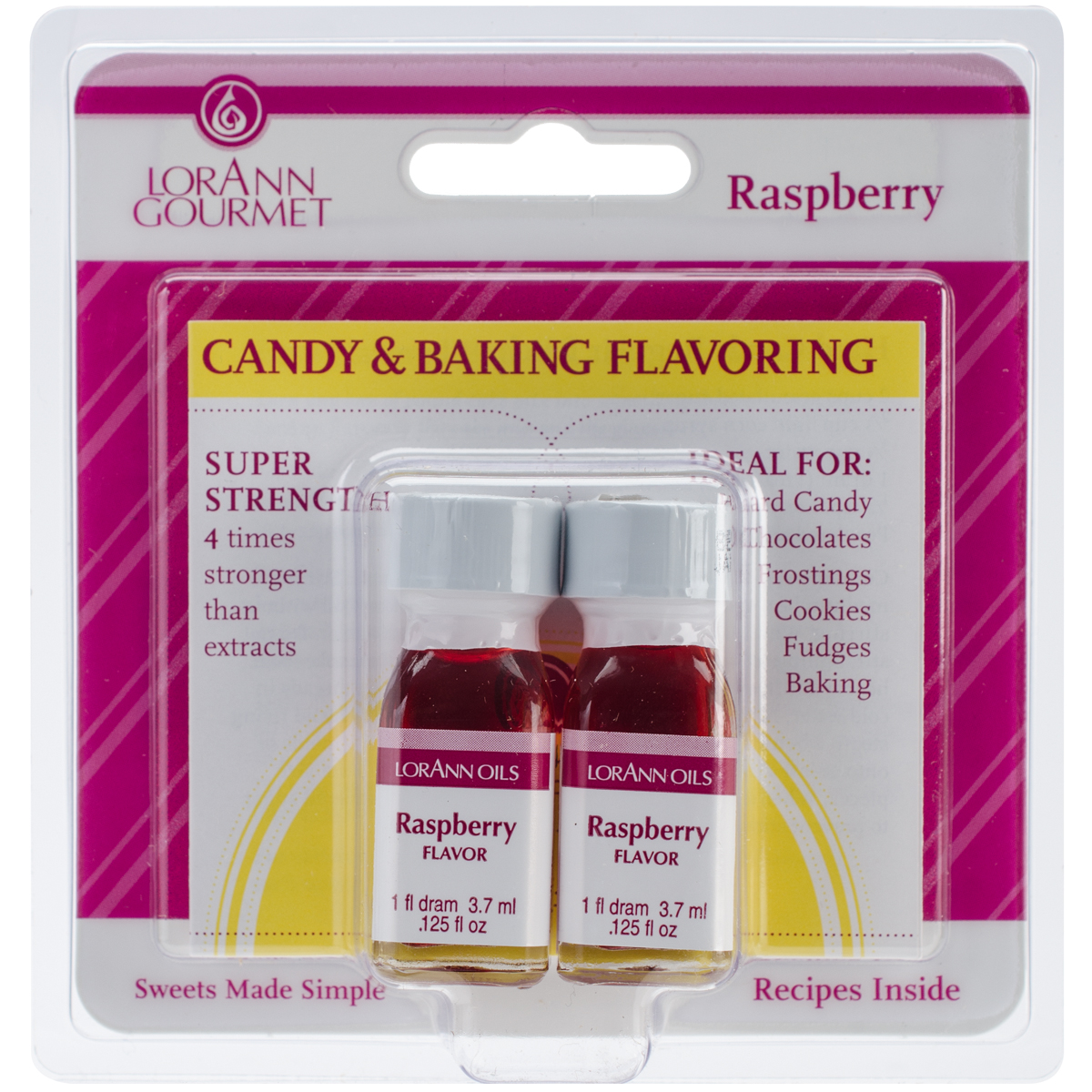 Candy & Baking Flavoring .125oz 2/Pkg-Raspberry