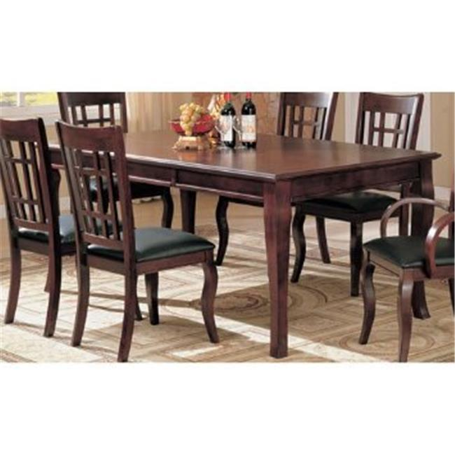 Wooden Imports Furniture QU-T-BLK Quincy Rectangular Dining Table 40 in. x 78 in. in Black & Cherry Finish