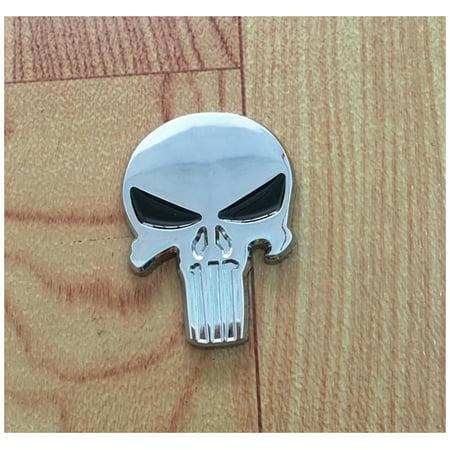 (Black Skull Punisher Car Styling Emblem Decal Badge Sticker Metal)