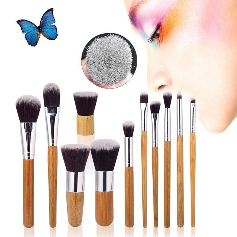 U-MAX  11 Pcs Professional Makeup Brush Set Blush Eyebrow Eyeliner Eyeshadow Foundation Brush Cosmetic Brushes Tool Kit