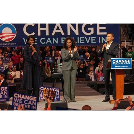 Michelle Obama Oprah Winfrey Barack Obama In Attendance For Barack Obama Campaign Rally For Democratic Presidential Primary With Oprah Winfrey The Verizon Wireless Arena Manchester Nh December 09 2007