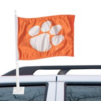 Clemson Tigers Plametto and Paw Car Flag