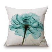"""Flowers Throw Pillow Covers Cotton Linen Square Decorative Throw Pillow Case Cushion Cover Enchanting Beautiful  Flowers Gift Anniversary Day Present 18 """"X18 """""""