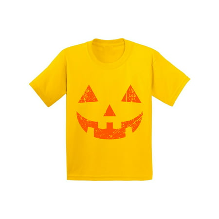 Awkward Styles Jack-O'-Lantern Tshirt Halloween Shirt for Kids Halloween Party T Shirt Trick Or Treat Family Shirt Holiday Gifts Pumpkin Face Tshirt Halloween Pumpkin Outfit Pumpkin Youth Shirts - Halloween Pumpkin Outfit