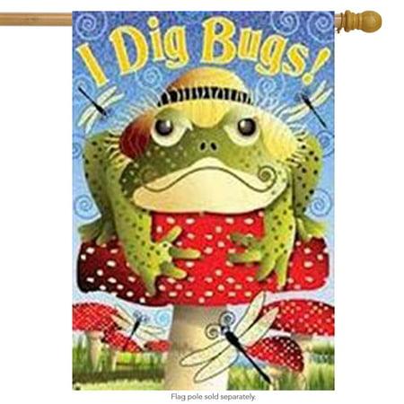 I Dig Bugs Toad  House Flag Mushroom Top Hat 28